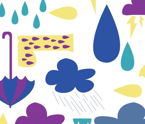 RAIN fabric by jlwillustration on Spoonflower - custom fabric