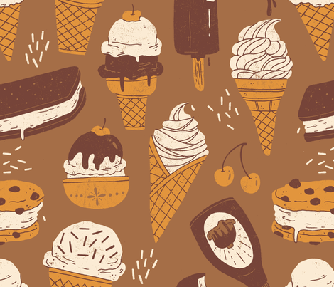 ice_cream fabric by smalltalk on Spoonflower - custom fabric