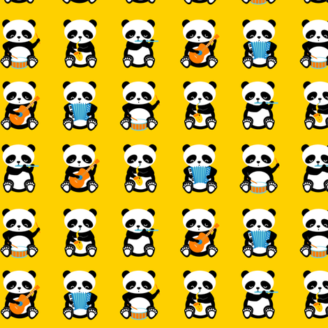 a band o' pandas - small fabric by bubbledog on Spoonflower - custom fabric