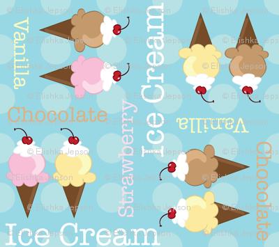 Neopolitan Ice Cream Cones