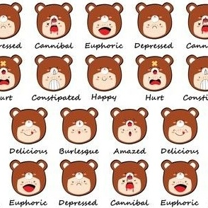 KAWAII BEARS EXPRESSIONS
