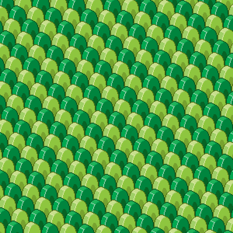 Pixelated Green Dragon Scales fabric by petitspixels on Spoonflower - custom fabric