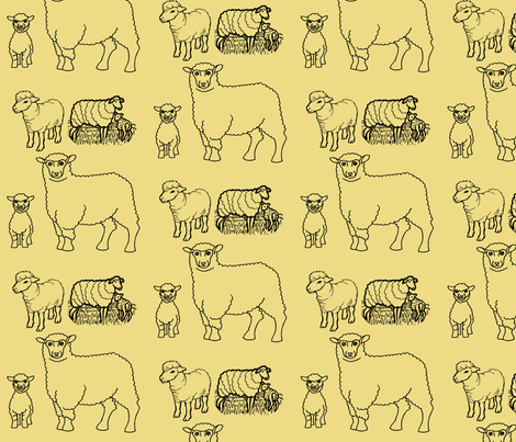 SheepFabric fabric by rengal on Spoonflower - custom fabric