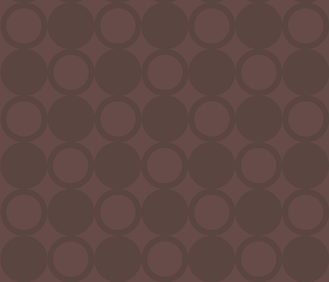 Circles In Brown fabric by jenniferfranklin on Spoonflower - custom fabric