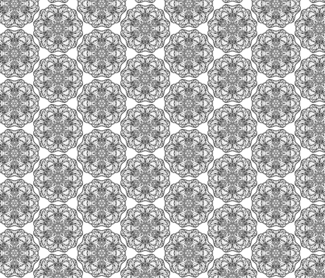 Dragon Circles Black and White fabric by captiveinflorida on Spoonflower - custom fabric