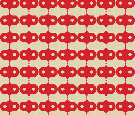 red_masked_linen fabric by holli_zollinger on Spoonflower - custom fabric