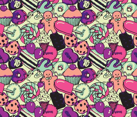 Sugar Galore (Purple) fabric by shirayukin on Spoonflower - custom fabric