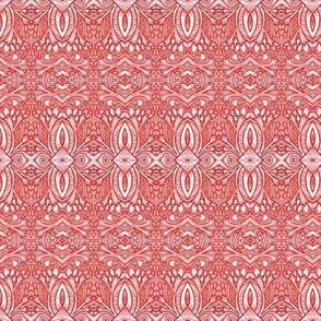 Red Work Horizontal Stripe