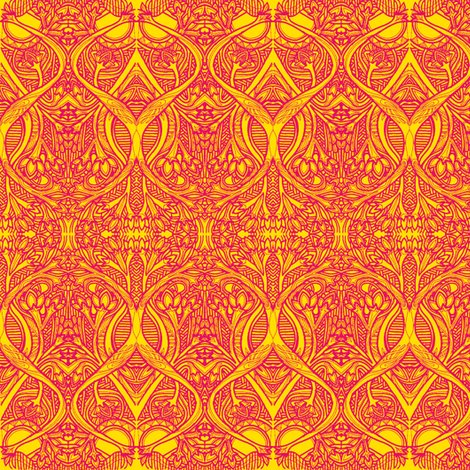 Roots and Bulbs (fire tones) wallpaper - edsel2084 - Spoonflower