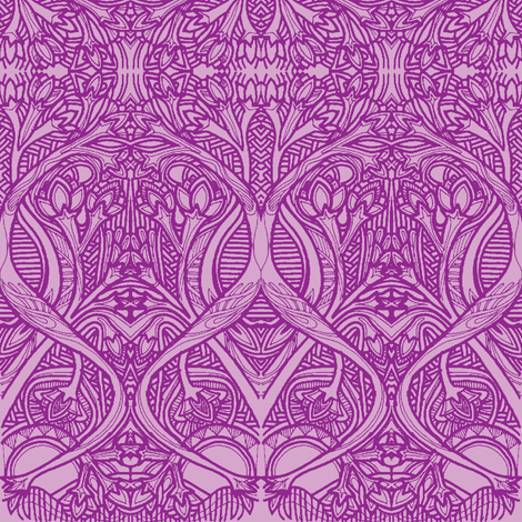 Roots and Blubs (violet) fabric by edsel2084 on Spoonflower - custom fabric