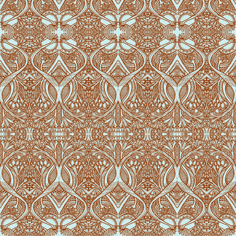 Roots and Bulbs (brown/blue) fabric by edsel2084 on Spoonflower - custom fabric