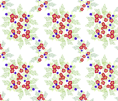 enamel flowers fabric by atomic_bloom on Spoonflower - custom fabric
