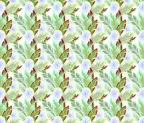 tropical leaves fabric by atomic_bloom on Spoonflower - custom fabric