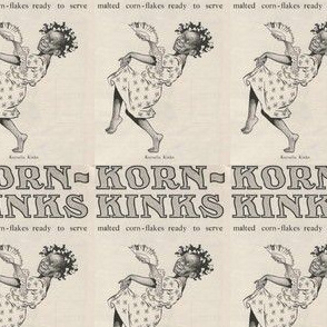 1907 Korn Kinks cereal advertisement (warning: racist content)