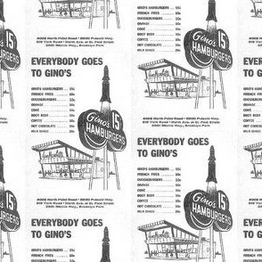 Nifty Fifties Ginos Fast Food Ad