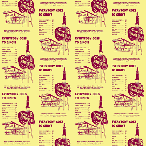 Everybody Goes to Gino's hamburger stand fabric by edsel2084 on Spoonflower - custom fabric