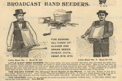 1880's broadcast hand seeder advertisement