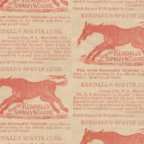 Kendall's Horse Spavin Cure ad
