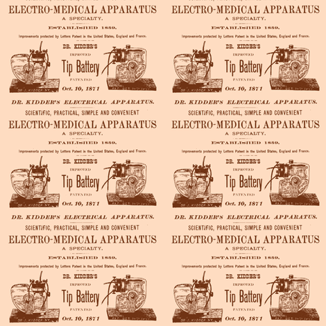 Patent Medical Machinery fabric by edsel2084 on Spoonflower - custom fabric