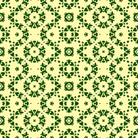 Little_Green_Things_on_Cream fabric by thatswho on Spoonflower - custom fabric