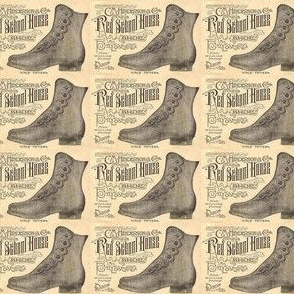 Red School House shoes 1880's ad