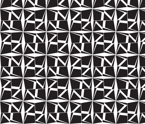 BlackWhiteReverse fabric by ghennah on Spoonflower - custom fabric