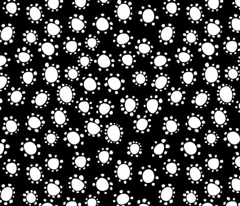 Spanish_Floral_Dots2_BLACKWHITE fabric by fuzzyskyfabric on Spoonflower - custom fabric
