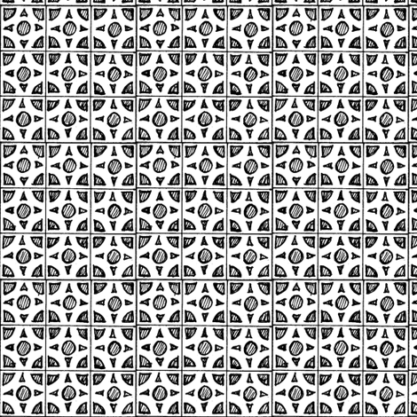 brix_11-bk/w fabric by cheeseandchutney on Spoonflower - custom fabric