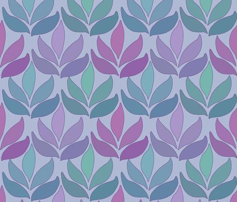 Leaf_Texture_fabric_lg-multi-PERIWINKLE fabric by mina on Spoonflower - custom fabric