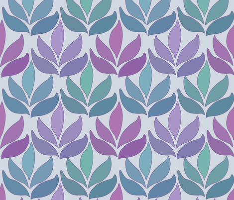 Leaf_Texture_fabric-lg_multi-BLUE-GRAY fabric by mina on Spoonflower - custom fabric