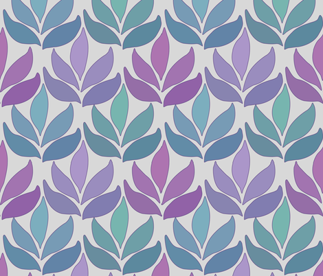 Leaf_Texture_fabric-lg_multi-GREY fabric by mina on Spoonflower - custom fabric