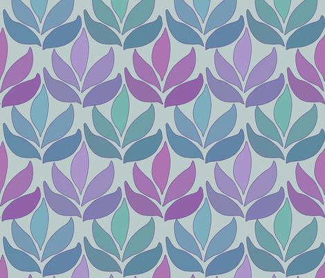 Leaf_Texture_fabric-lg_multi-SAGE fabric by mina on Spoonflower - custom fabric