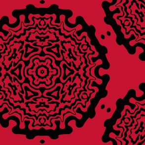 red ornamentic circles 2