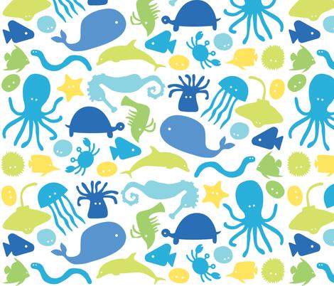 Sea Creatures fabric by ankepanke on Spoonflower - custom fabric