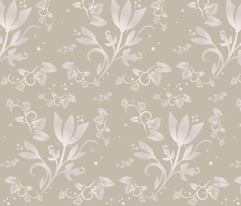 Sand Flowers large ©2011 Gingezel™ Inc. fabric by gingezel on Spoonflower - custom fabric