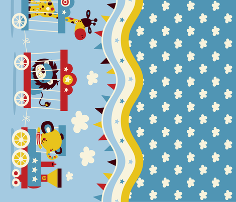 Circus fun for little one! - Parade fabric by bora on Spoonflower - custom fabric