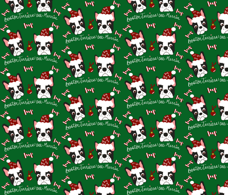 Boston Terriers are Merrier! fabric by missyq on Spoonflower - custom fabric
