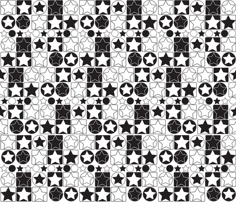 black_and_white fabric by jlwillustration on Spoonflower - custom fabric