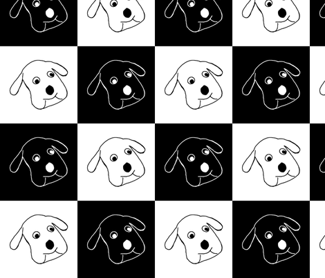 Black and White fabric by scraphounds on Spoonflower - custom fabric