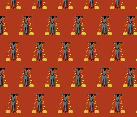 Donkey fabric by pond_ripple on Spoonflower - custom fabric