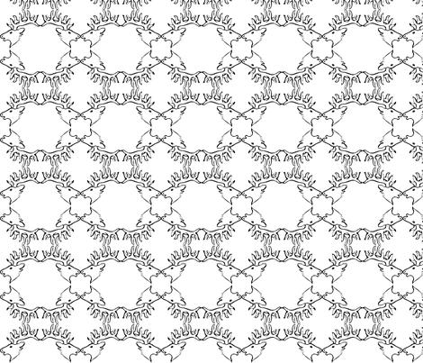 12387000942119422790boobaloo_Deer_Head_svg_med-ed fabric by brittfoshea on Spoonflower - custom fabric