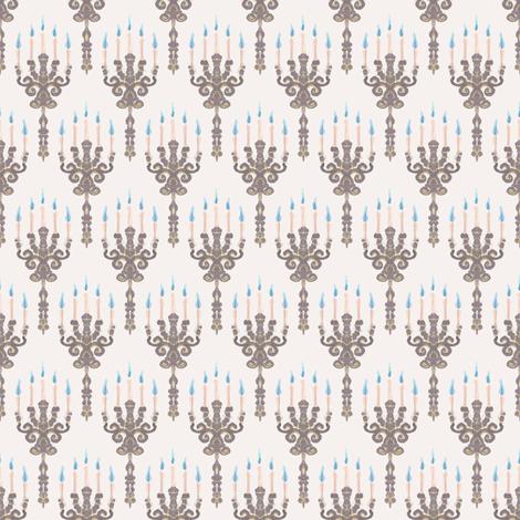 Ghost Candles fabric by siya on Spoonflower - custom fabric