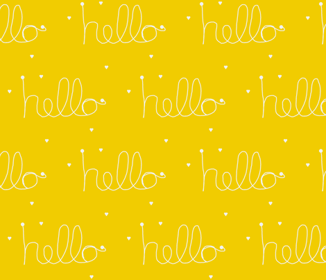 hello yellow  fabric by ninaribena on Spoonflower - custom fabric