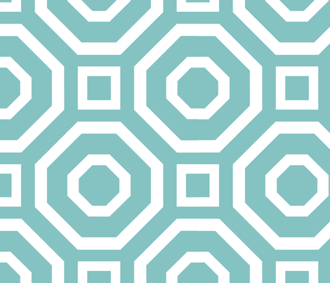 Geometry Robin's Egg fabric by alicia_vance on Spoonflower - custom fabric