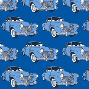 1951 bulletnose Studebaker light on medium blue