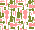 Violins - pink and green