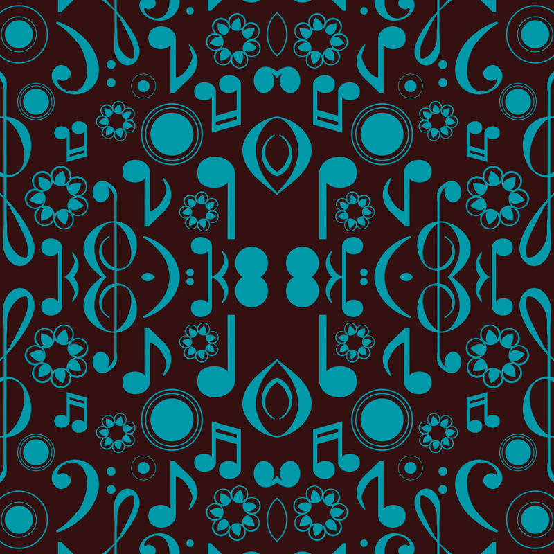 notes and clefs blue and brown wallpaper marchingbandstuff