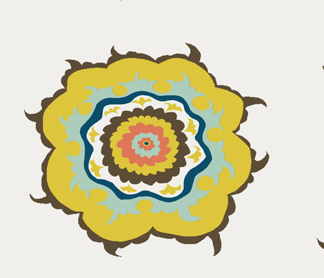 Suzani fabric by alicia_vance on Spoonflower - custom fabric