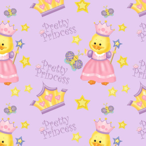 Pretty Princess Duckling Purple