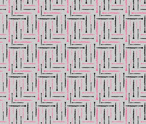 Geometric Clarinets fabric by marchingbandstuff on Spoonflower - custom fabric